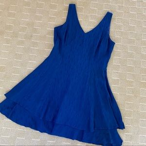 Blue fit and flare dress CDC